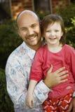 Padre e figlia felici Fotografie Stock