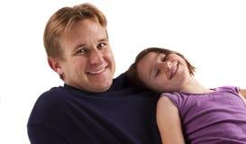 Padre e figlia felici Fotografie Stock Libere da Diritti