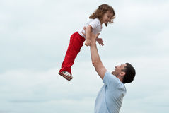Padre e figlia felici Fotografia Stock