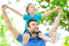 Padre e figlio Immagine Stock