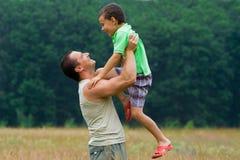 Padre e figlio Immagini Stock Libere da Diritti
