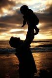 Padre e figlio insieme fotografia stock