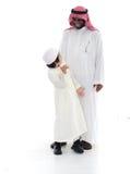 Padre e figlio musulmani arabi Immagini Stock Libere da Diritti