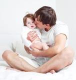 Padre e hija Foto de archivo libre de regalías