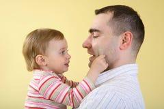 Padre e hija Imagen de archivo libre de regalías