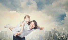 Padre e hija Imagen de archivo