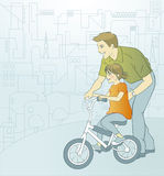 Padre e hija stock de ilustración
