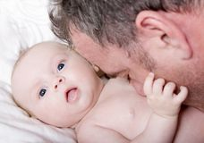 Padre e hija Fotos de archivo