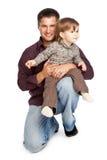 Padre e hija Fotos de archivo libres de regalías