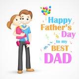 Padre e hija adentro en el día de padre Imágenes de archivo libres de regalías