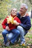 Padre e hija alegres Imagen de archivo libre de regalías