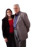 Padre e hija del indio Imagen de archivo libre de regalías