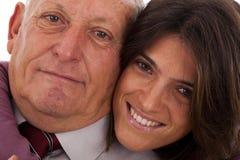 Padre e hija felices Fotografía de archivo libre de regalías