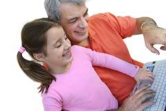Padre e hija felices Foto de archivo libre de regalías