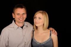 Padre e hija felices Imagen de archivo libre de regalías