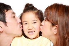 Padre e hija japoneses Fotografía de archivo