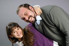 Padre e hija que expresan su amor Fotografía de archivo libre de regalías