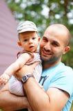 Padre e hijo Foto de archivo libre de regalías
