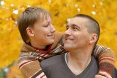 Padre e hijo Imágenes de archivo libres de regalías