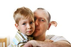 Padre e hijo Imagen de archivo