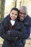 Padre e hijo en caminata del otoño Fotos de archivo libres de regalías