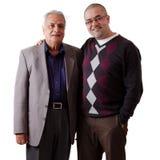 Padre e hijo indios Foto de archivo libre de regalías
