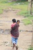 Padre e hijo indonesios Imagen de archivo libre de regalías