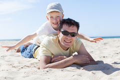 Padre e hijo junto Imagen de archivo libre de regalías