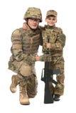 Padre e hijo militares imágenes de archivo libres de regalías