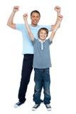 Padre e hijo que disfrutan junto imágenes de archivo libres de regalías