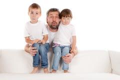 Padre e hijos Imagen de archivo libre de regalías