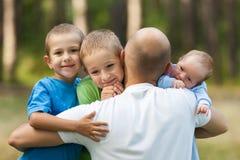 Padre e hijos Imagen de archivo