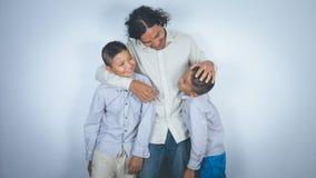 Padre e hijos Fotos de archivo libres de regalías