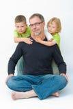Padre e hijos Fotografía de archivo