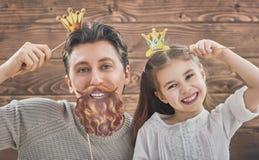 Padre e la sua figlia fotografia stock