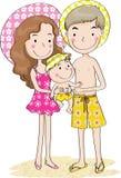 Padre e madre e figlio Immagini Stock