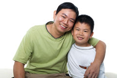 Padre e me Fotografia Stock