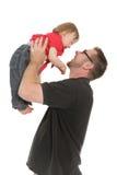 Padre e neonata Fotografia Stock