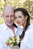 Padre e sposa fieri Fotografie Stock
