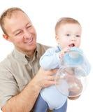 Padre ed il suo bambino Fotografia Stock