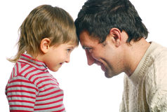 Padre ed il suo figlio Immagine Stock