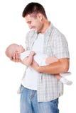 Padre felice che tiene il suo figlio Immagine Stock Libera da Diritti