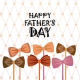 Padre felice Day Family Holiday, cartolina d'auguri della cravatta Fotografia Stock