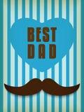 Padre felice Day Mustache Love royalty illustrazione gratis