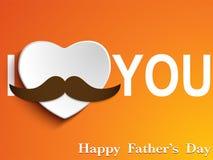 Padre felice Day Mustache Love Fotografie Stock Libere da Diritti