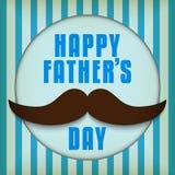 Padre felice Day Mustache Love Fotografia Stock
