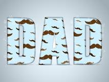 Padre felice Day Mustache Love illustrazione vettoriale
