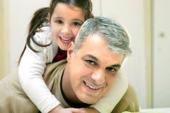 Padre feliz Imagen de archivo libre de regalías