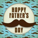 Padre feliz Day Mustache Love Imagen de archivo libre de regalías