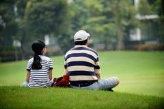 Padre & figlia Fotografia Stock